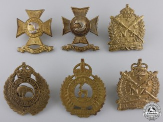 Six New Zealand First War Period Cap Badges