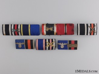 Six Second War German Ribbon Bars