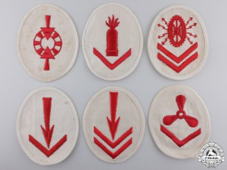 Six Second War Kriegsmarine Specialty Trade Badges