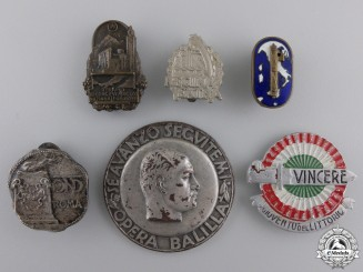 Italy, Fascist State. A Lot of Second War Period Badges