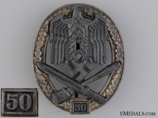 "Special Grade General Assault Badge ""50"" Grade III"