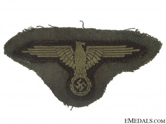 SS EM/NCO's Sleeve Eagle with Piece of Tunic