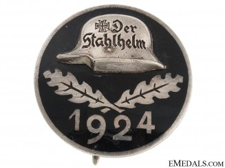 Stahlhelm Membership Badge 1924 - Engraved