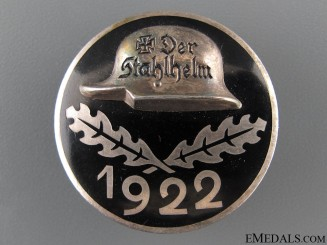 Stahlhelm Membership Badge 1922 - Silver