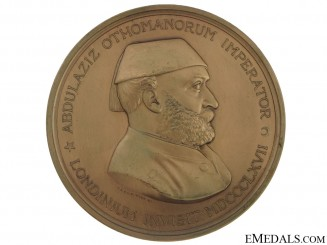 Sultan Abdulaziz's Visit to London Commemorative Table Medal, 1867