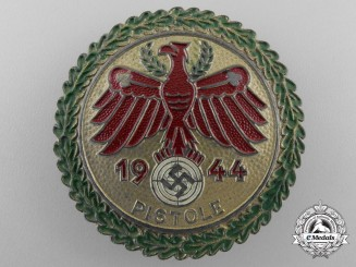 A 1944 Tirol Shooting Association District Master's (Gaumeister) Badge for Pistol Shooting