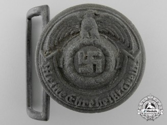 Germany, SS. A Late War Officer's Belt Buckle