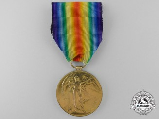 A First War Victory Medal to a H.M.S. Natal Casualty