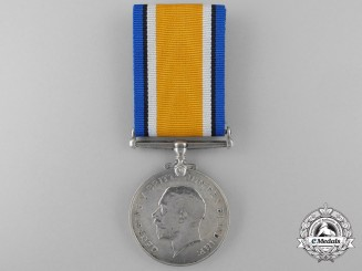 A British War Medal to Private G.F. Chapman of the Royal Marine Light Infantry