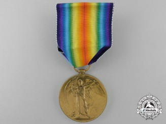 A First War Victory Medal to Captain W.S. Kelso; Mentioned In Dispatches