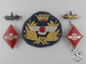 Spain, Fascist State. A Lot of Air Force Insignia, c.1965