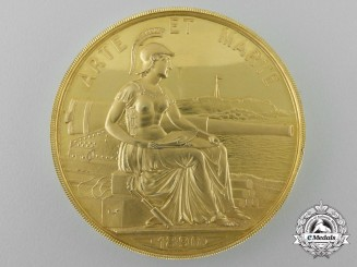 A Solid Gold Royal Artillery Institution Le Froy Medal 1890; (Colonel K. E. Haynes, C.M.G., C.B.E., R.A., 1922)