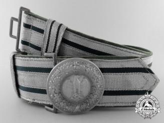 A German Army (Heer) Officer's Brocade Dress Belt with Buckle