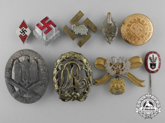 A Lot of Second War German Badges & Pins
