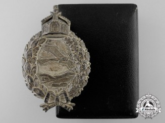A Fine German Imperial/Prussian Pilots Badge by Juncker with Case