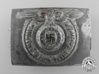 A Waffen-SS EM/NCO Belt Buckle by Overhoff and Cie