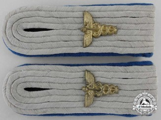 A Set of Army Medical Administration Staff Shoulder Boards