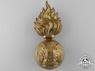 An 11th Regiment (Irish Fusiliers of Canada) Brass Busby Grenade