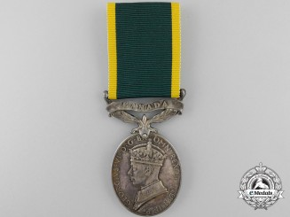 An Efficiency Medal to the Royal Canadian Artillery
