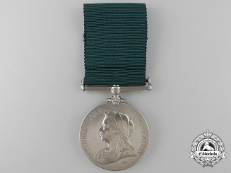 A Colonial Auxiliary Forces Long Service Medal to the Q.M. of 3rd Regiment