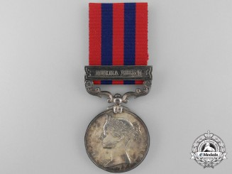 An Indian General Service Medal 1854-95 to the South Wales Borders