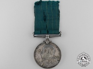 A Colonial Auxiliary Forces Long Service Medal to the 27th Regiment
