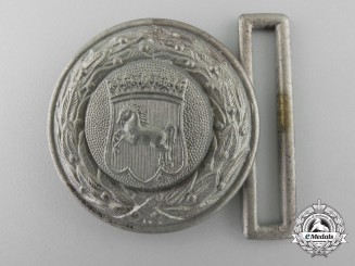 A Hanover Fire Defence Service Officer's Belt Buckle; Published Example