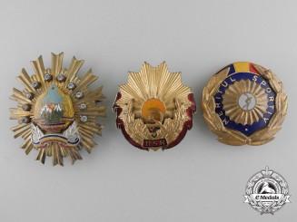 Romania, Socialist Republic. Three Orders & Decorations