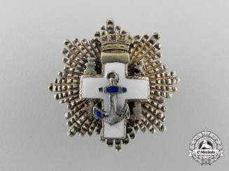 A Franco Era Spanish Order of Naval Merit; Miniature Breast Star