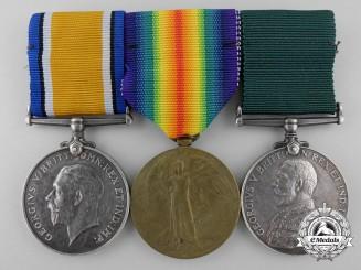 A First War Group to Regimental Quartermaster Sergeant Rowley C. Wilson; CMR