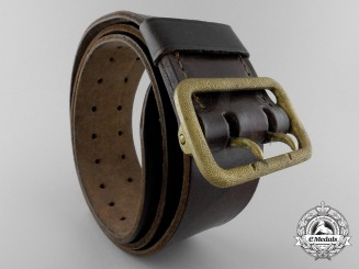 A German Army Belt with Double Open-Claw Buckle by Paulmann & Crone, Ludenscheid