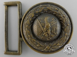 A German Penal Administrative Official's Belt Buckle by Steinhauer & Luck