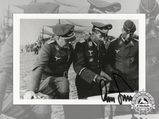A Post War Signed Photograph of Knight's Cross Recipient; Adolf Galland