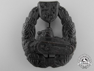 A 1920 Czechoslovakian Tank Crew Badge