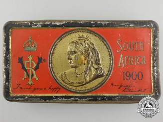 A Boer War Cadbury's Queen Victoria Christmas/New Years' Gift Tin