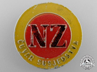 A Second War Croatian Civil Defence Badge