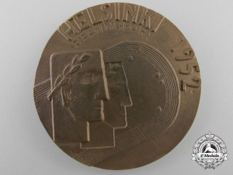 Finland, Republic. A XV Summer Olympic Games Participant's Medal, c.1952