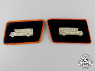 A Set of German Street Car Operator Collar Tabs