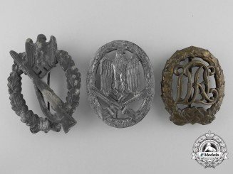 Three Second War German Badges & Awards