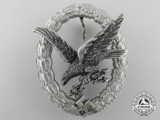 Germany, Luftwaffe. A Radio Operator & Air Gunner Badge, Aluminum Version, by Assmann
