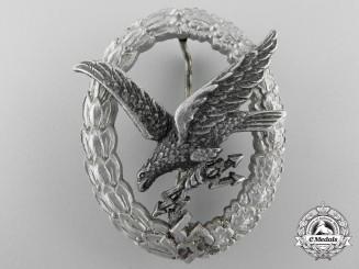 Germany, Luftwaffe. A Radio Operator & Air Gunner Badge, Aluminum Version, by Assmann