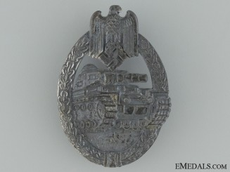 Tank Assault Badge; Silver Grade