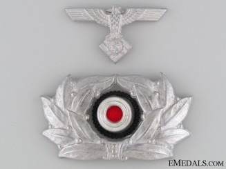 TeNo NCO's Visor Wreath & Eagle