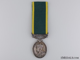 Territorial Force Efficiency Medal to the 6th Cameronia's Reg.