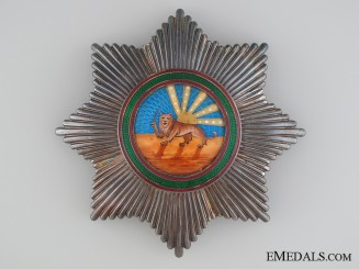 An Iranian Order of Homayoun; 1st Class Breast Star