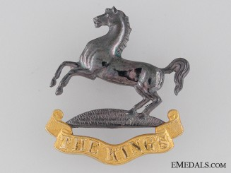 The King's Regiment Officer's Cap badge