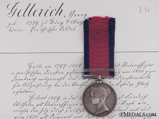 United Kingdom. The Military General Service Medal to Johann Georg Gellrich