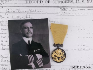 A Military Order of the Dragoon to U.S. Commander Gibbons