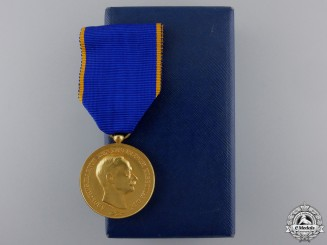 Luxembourg, Kingdom. An Order of Adolph, Golden Merit Medal