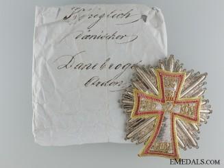 An Order of Dannebrog to Count Maurice Joseph Dietrichstein